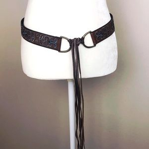 American Eagle Outfitters embroidered fringe belt